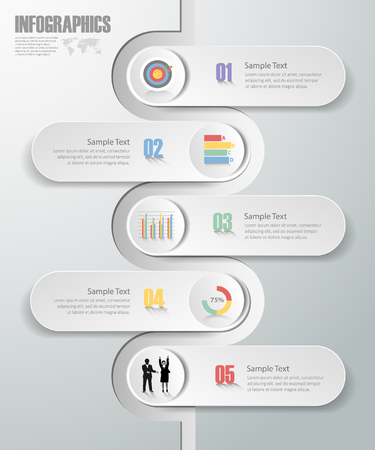 Design Infographic template 5 steps. can be used for workflow layout, diagram, number options, bussiness concept