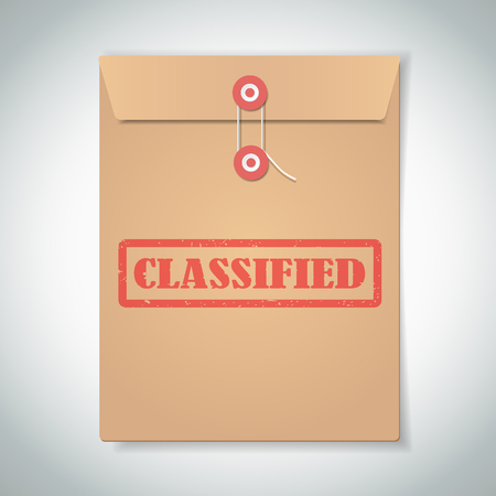 classified: Classified red stamp text on brown folder