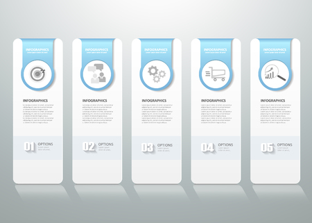 diagrama: Diseño del modelo de infografía. se puede utilizar para el diseño de flujo de trabajo, diagrama, opciones de números, el progreso, la línea de tiempo Vectores