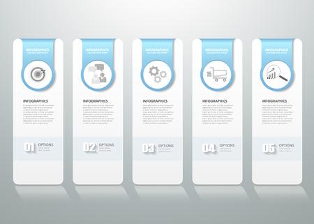 Zaprojektuj infografikę szablon. może być stosowany do przepływu pracy układu, schemat, opcji numerycznych, postępu, osi czasu