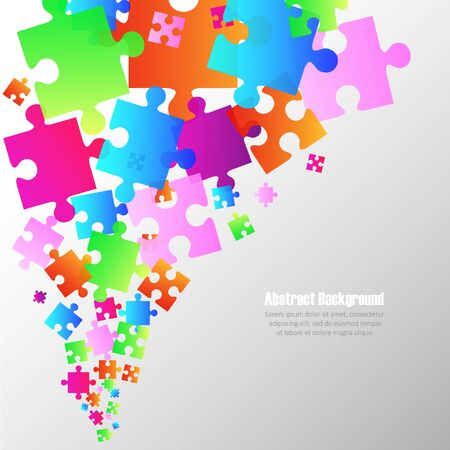 puzzle background: Abstract colorful  puzzle background
