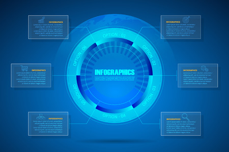 Design digital infographic template, Can be used for workflow layout, banner, diagram, web design, timeline
