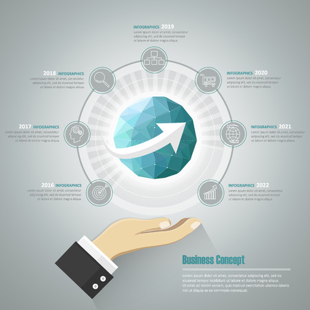 timeframe: Business concept infographic template, Can be used for workflow layout, banner, diagram, web design, timeline