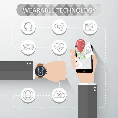 Wearable technology concept Illustration