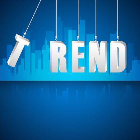 trends: Design trends concept, vector illustration