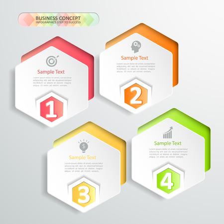 Design infographics 4 steps.