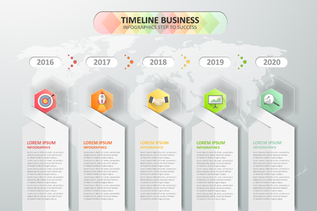 schedule reports: Timeline infographics design.