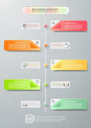 Abstract 3d infographic template 5 steps can be used for workflow abstract 3d infographic template 5 steps can be used for workflow layout diagram ccuart Choice Image