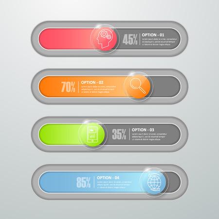 botton: Design botton slide, Modern infographic  template. vector illustration Illustration
