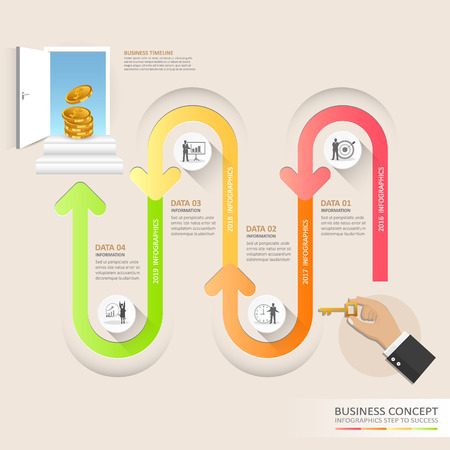 Timeline infographic template for business concept, Vector illustration.