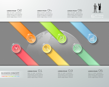Design business concept infographic, can be used for workflow layout, diagram, number options, graphic or website layout.