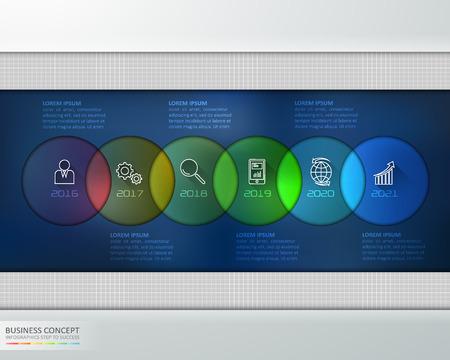 Mordern business timeline infographic template. vector illustration