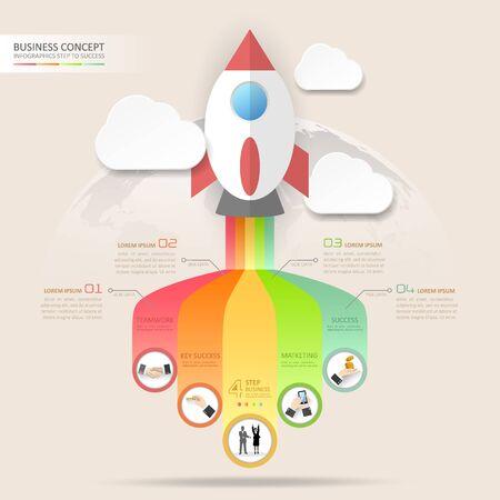 schematic diagram: Design business startup concept infographics. Vector illustration