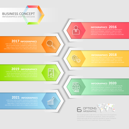 conection: Design business concept infographic, can be used for workflow layout, diagram, number options, graphic or website layout.