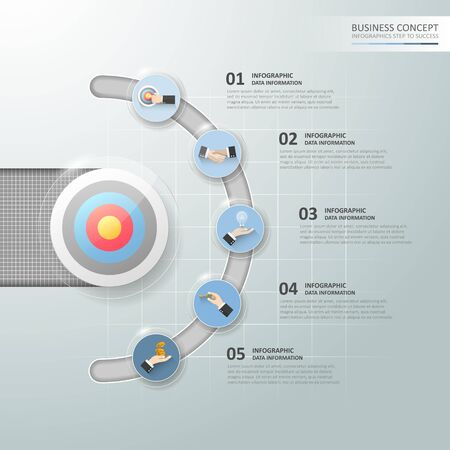 chronological: Design business circle concept infographic, can be used for workflow layout, diagram, number options, graphic or website layout.