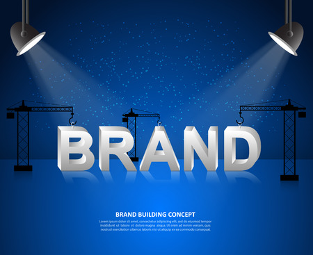 creating: Design brand concept, building brand background, startup and creating brand, vector illustration.