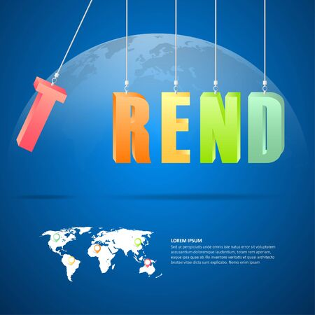 trend: Design trend concept, abstract trend background vector illustration.