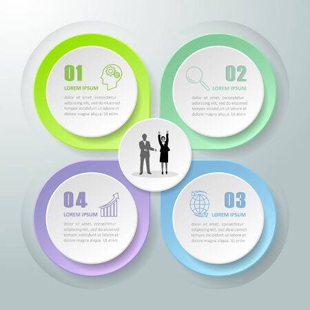 chronological: Abstract 3d infographic 4 options,  Business concept infographic template can be used for workflow layout, diagram, number options,