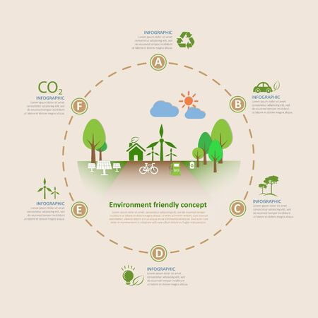 Let's save the Earth, Ecology concept infographics vector illustration.