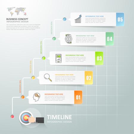 Timeline Infografik 5 Optionen, Business-Konzept Infografik Vorlage ...