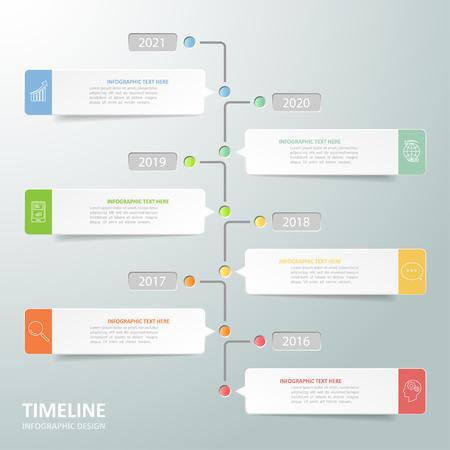 chronologie d'affaires modèle infographique peut être utilisé pour la mise en page flux de travail, diagramme, les options numériques, Vecteurs