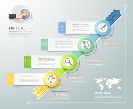 Business concept de modèle infographique peut être utilisé pour la mise en page flux de travail, diagramme, les options de numéro, le calendrier ou les étapes du projet.