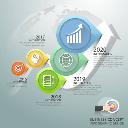 Design infographic 5 Steps, Business concept infographic template can be used for workflow layout, diagram, number options, timeline or milestones project.