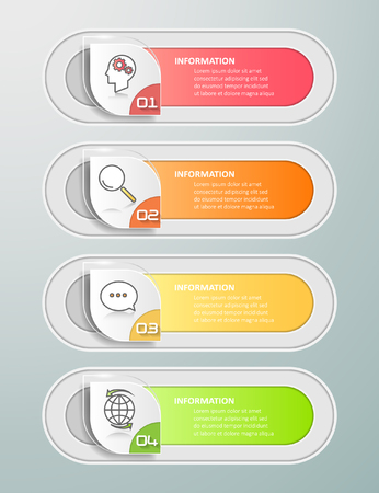 display problem: Design template infographic 4 options,  Business concept infographic can be used for workflow layout, diagram, number options,