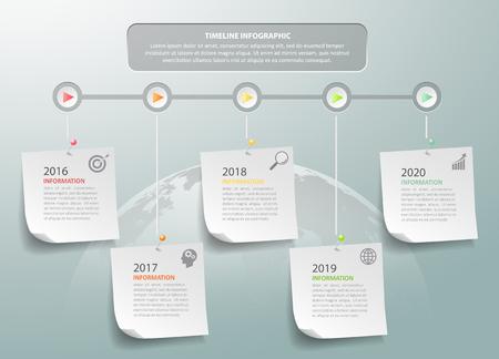 La plantilla de diseño de concepto de negocio infográfico se puede utilizar para diseño de flujo de trabajo, diagrama, opciones de número, línea de tiempo o proyecto de jalones.