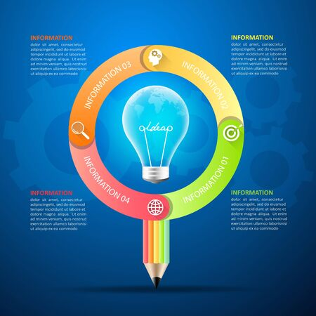 Business idea concept infographic template can be used for workflow layout, diagram, number options, milestones project. Illustration