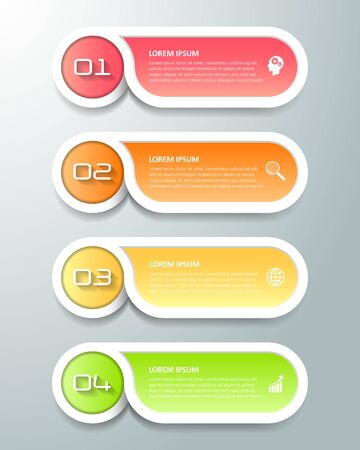 Design infographic template 4 options. can be used for workflow layout, diagram, number options, timeline and steps