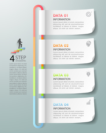 demographics: Design template business concept infographic template can be used for workflow layout, diagram, number options, timeline or milestones project.
