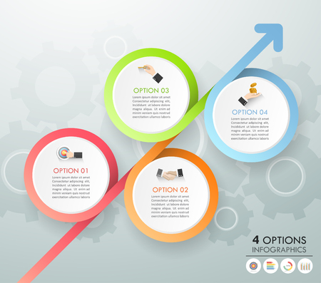 Design template business concept infographic template can be used for workflow layout, diagram, number options, timeline or milestones project.