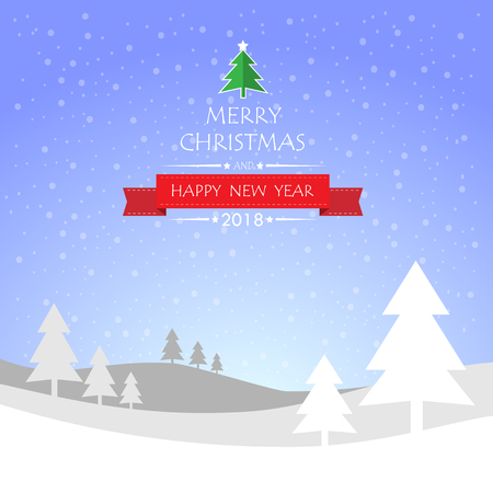 Design Christmas greeting card, and Happy new year message, Vector illustration. Illustration