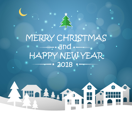 Design christmas greeting card and 2018 happy new year message design christmas greeting card and 2018 happy new year message vector illustration stock m4hsunfo