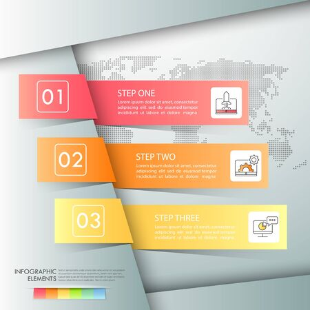 Design infographic template 3 options. Business concept can be used for workflow layout, diagram, number options, timeline, steps, demo infographic