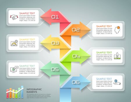 Timeline business concept infographic template, can be used for workflow layout, diagram, number options, timeline or milestones project. Ilustración de vector