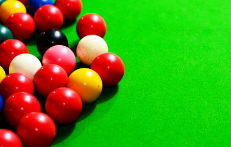 colorful snooker ball Stock Photo