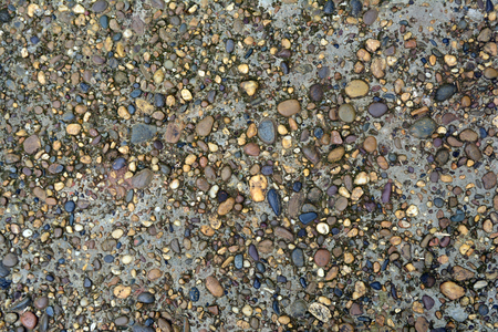 gravels and rocks on the deterioration of old cement ground from long time used