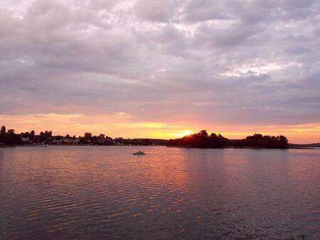 Lake sunset Reklamní fotografie