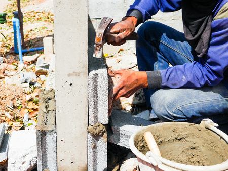 bricklayer: bricklayer Stock Photo