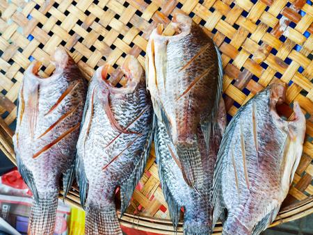 mango fish: Mango fish on threshing basket prepare for cook Stock Photo