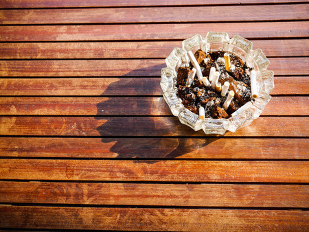 soft   focus: ashtray in strong sunlight soft focus