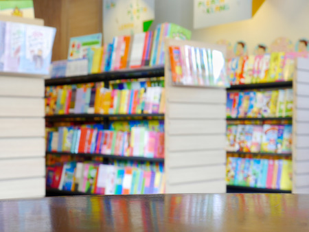 blurred book store city lifestyle
