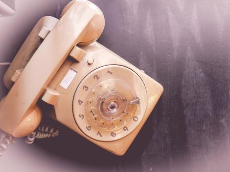 turn dial: vintage dial phone