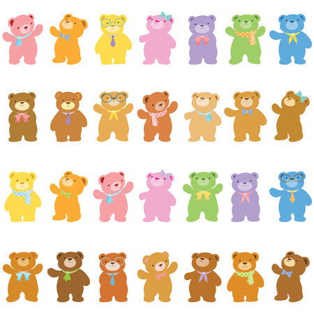 moods: little bears in variety acting pack