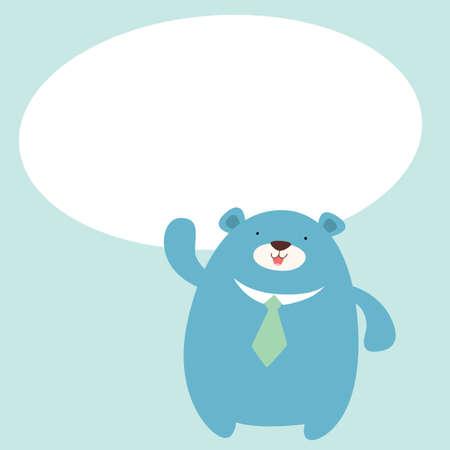 mr: Mr  Bear said with speech balloon
