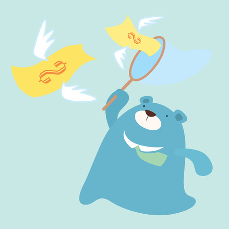 chase: Mr  Bear chase money flying