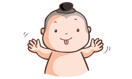 urge: Little Thai boy make a wry face vector illustration