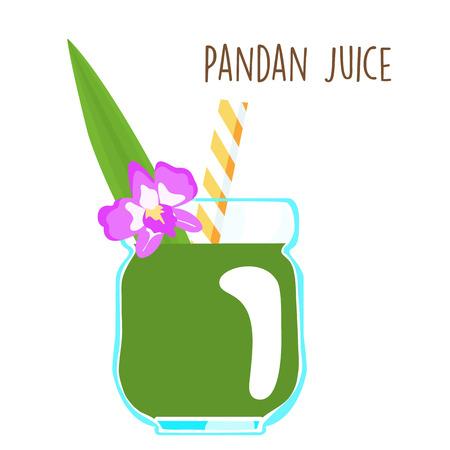 aromatique: vert frais aromatique feuilles de pandanus vecteur de jus illustration Illustration